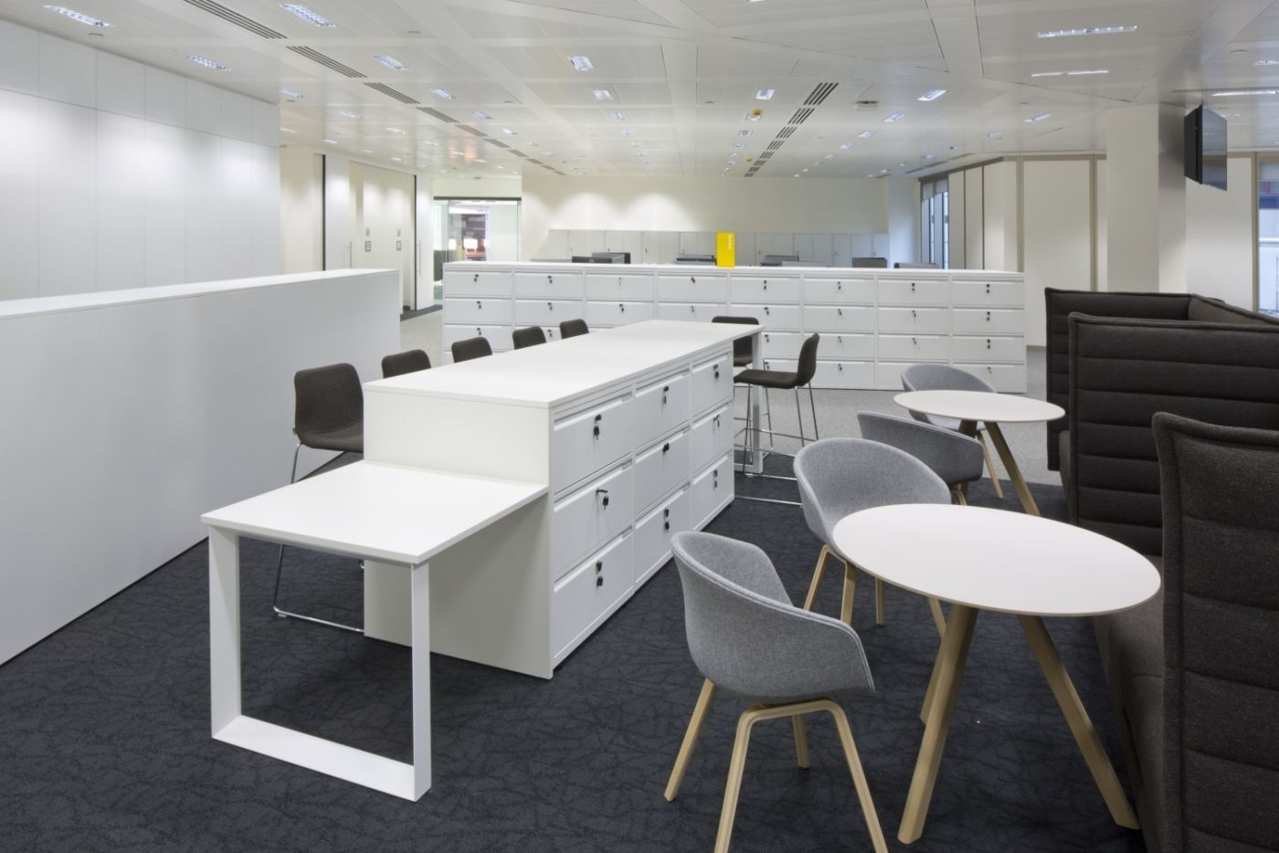 Secured storage in a modern fit out