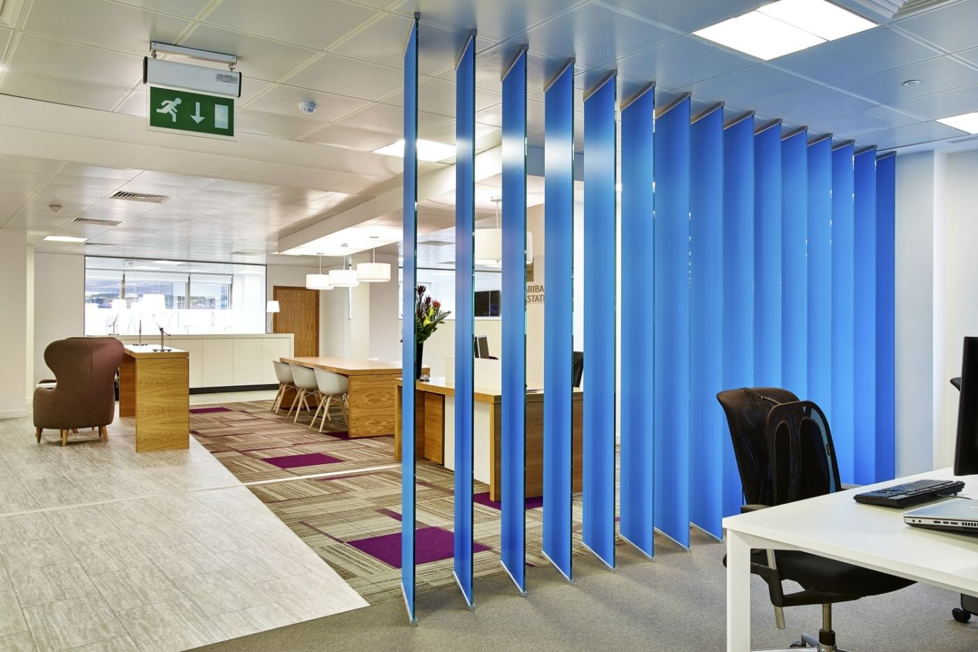 Joinery room with blue panels