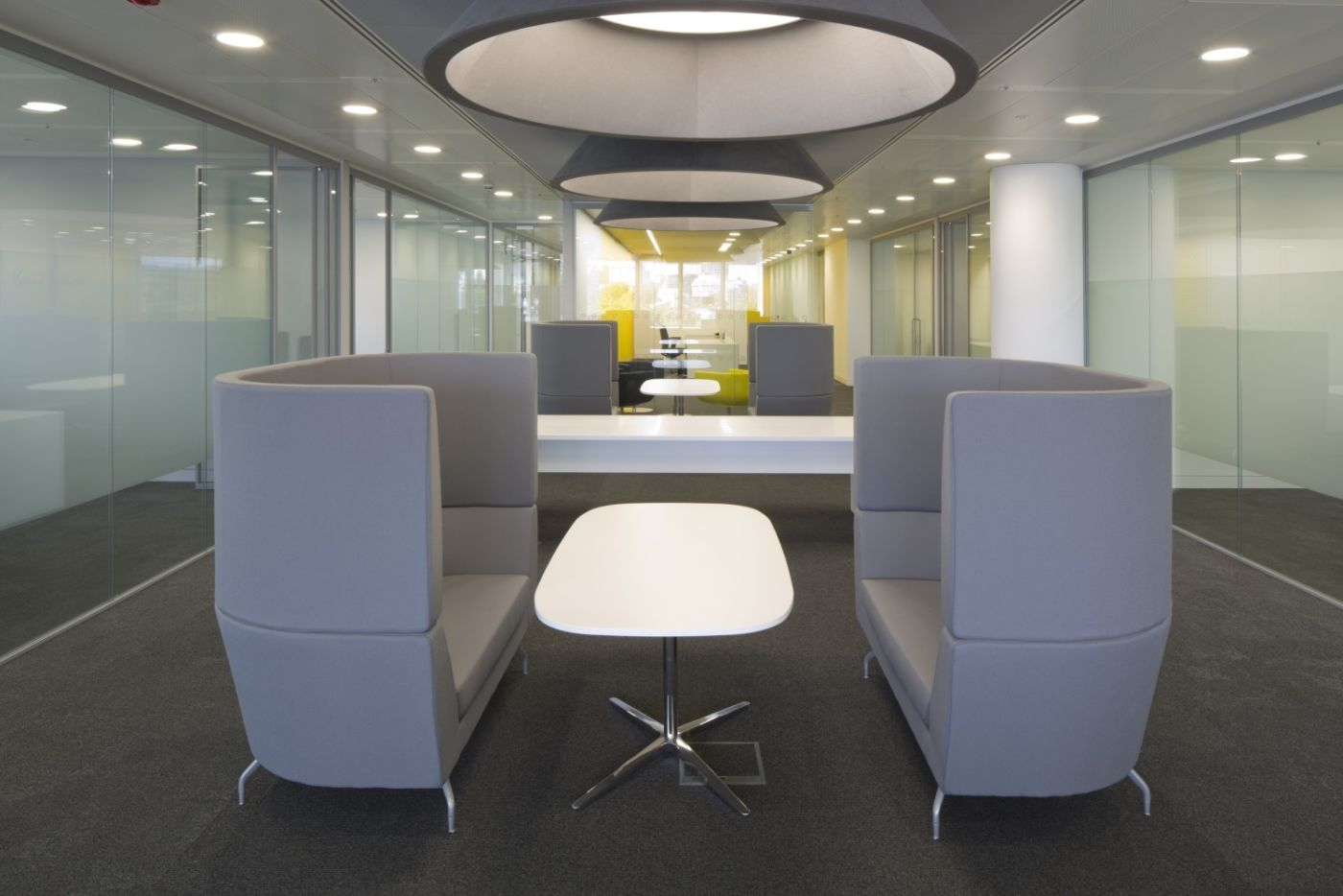relaxed modern meeting area