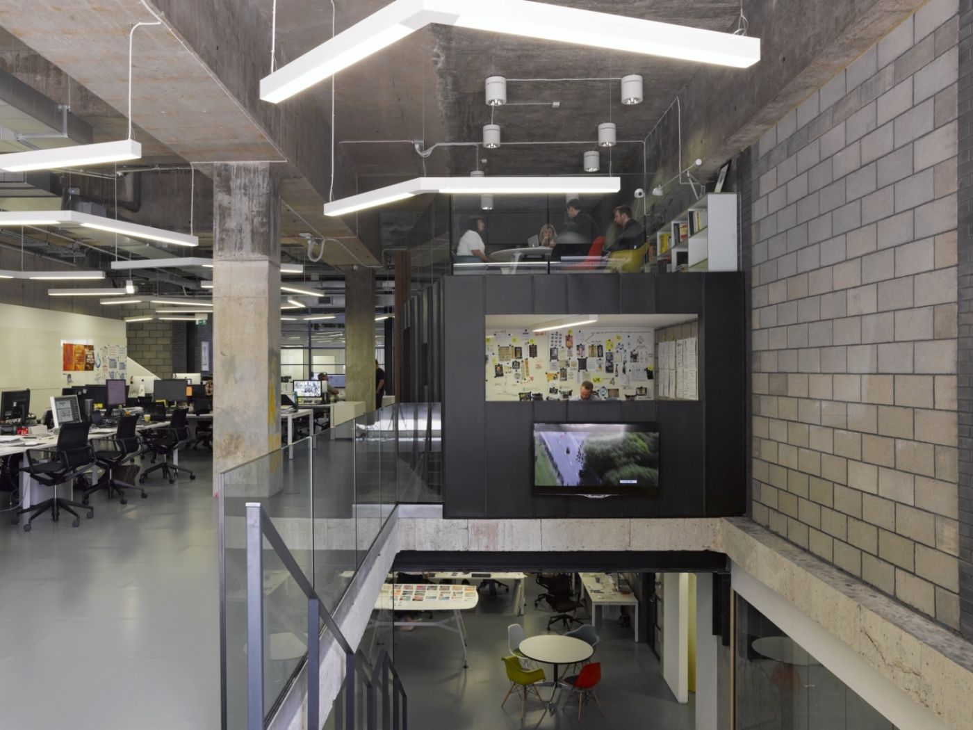 Open plan, warehouse style offices