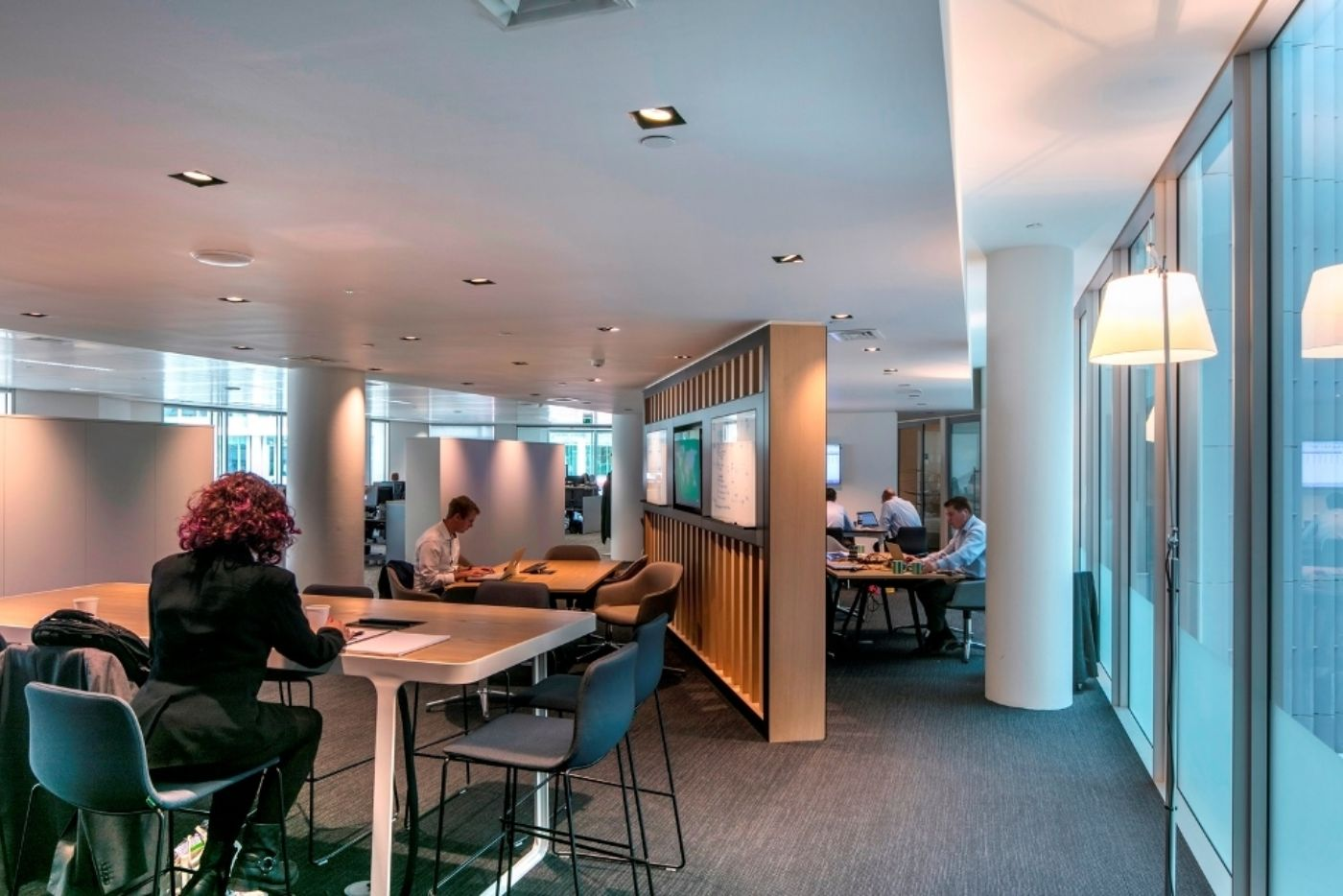 Staff working in modern office fit out