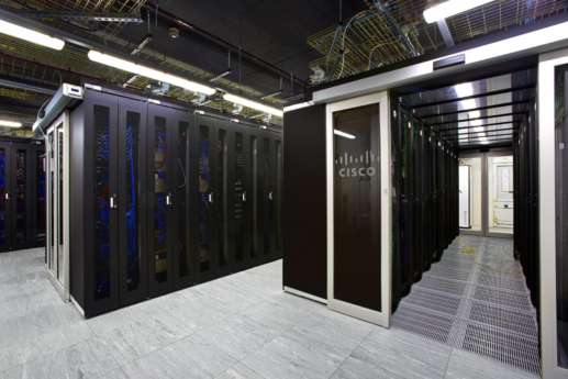 Monochrome server room