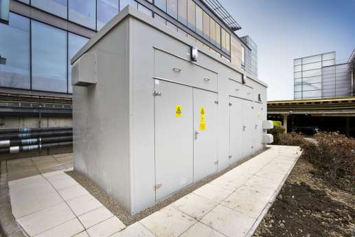 Grey external infrastructure fit out