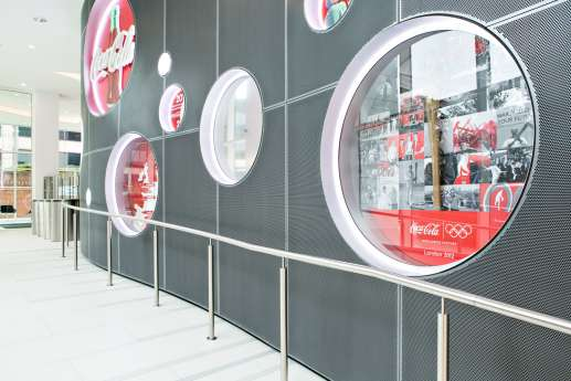 Circular Coca Cola windows
