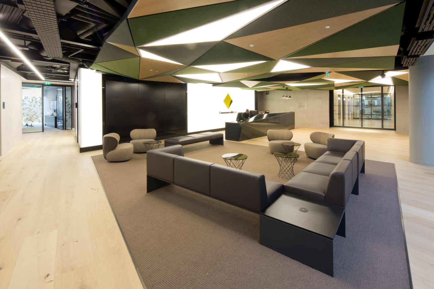 Client seating area in reception