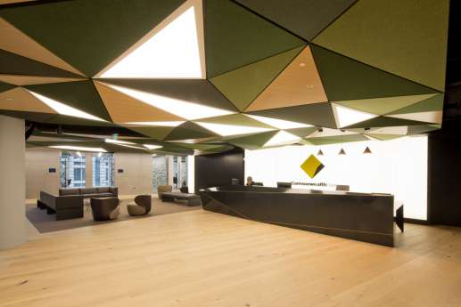 Funky ceiling in large reception room