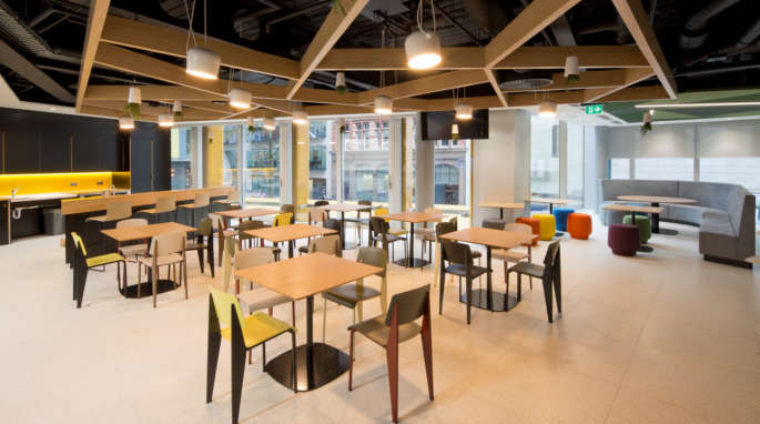 Staff seating in tea point fit out