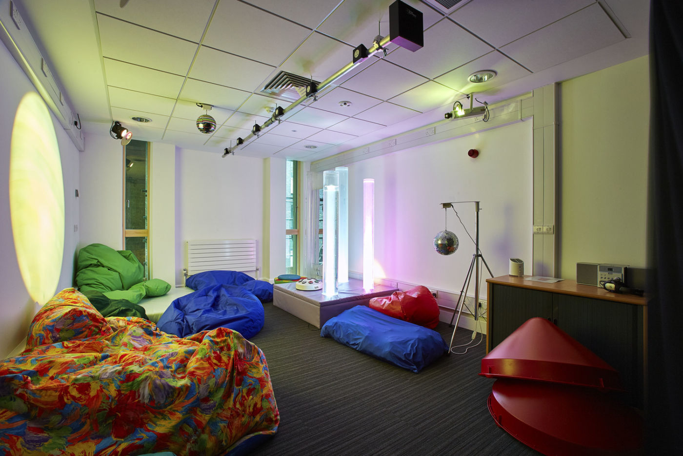 Breakout area with beanbags