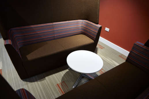 Private meeting chairs in University of Coventry Fit Out