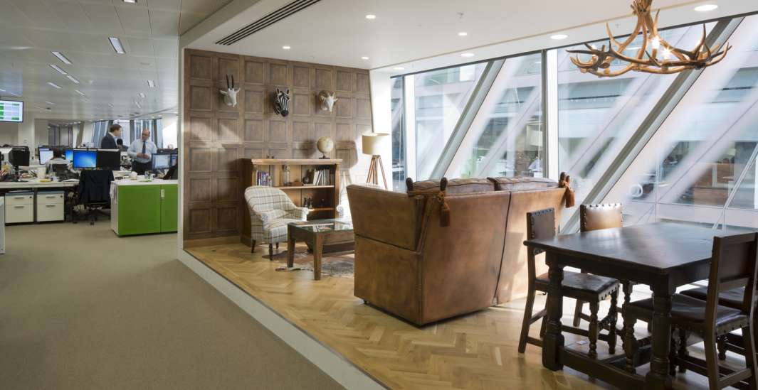 Old furniture in informal office fit out