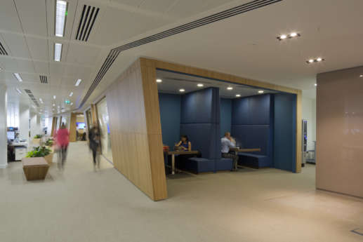 Fit out with informal staff seating booths