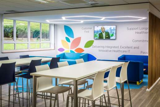 Staff seating area in modern office fit out