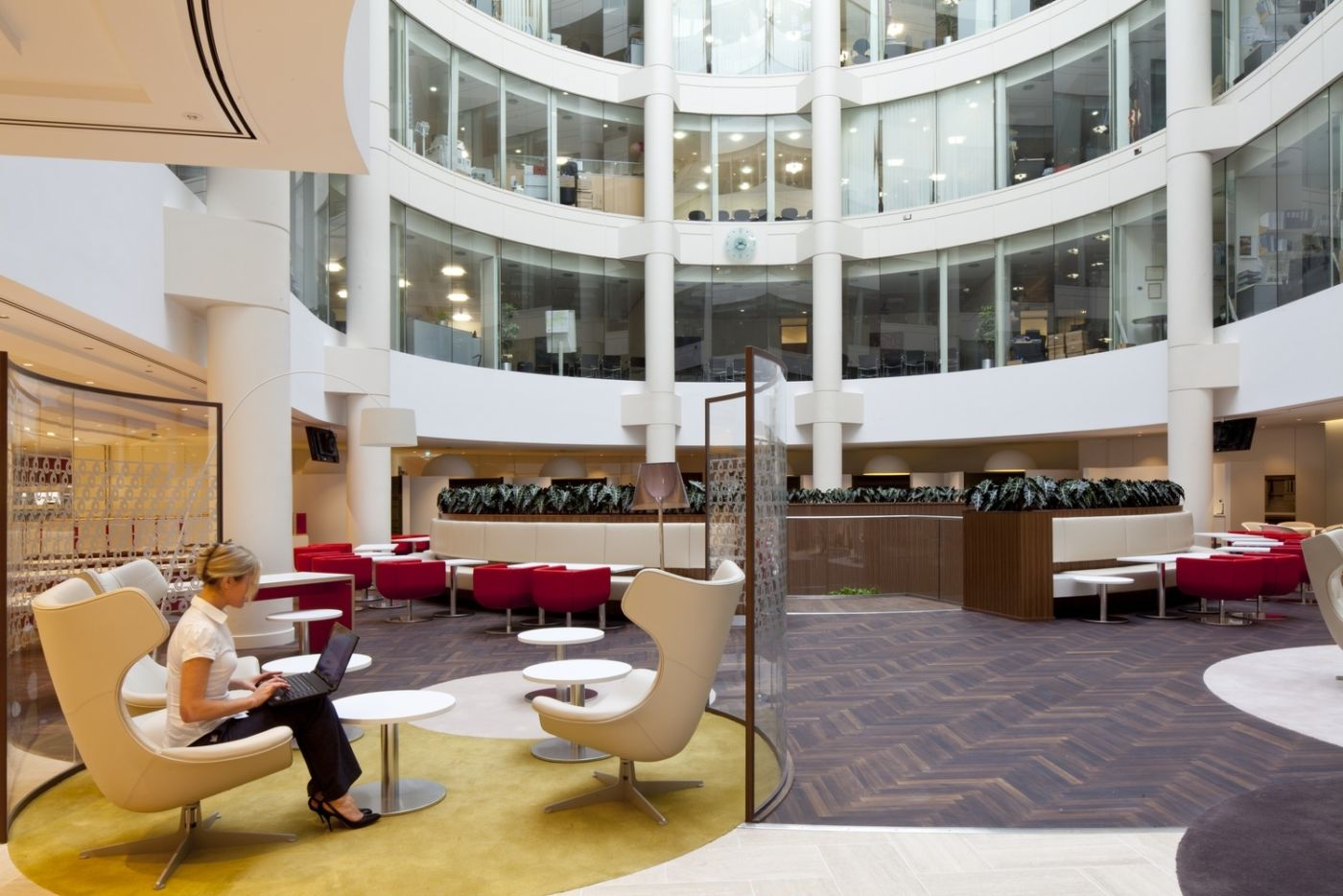 Staff breakout area in London law firm office