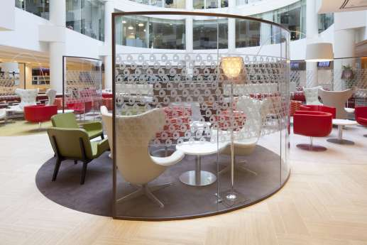Relaxed seating in office reception