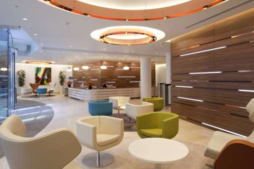 Seating in London office reception