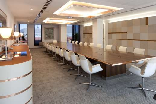 Legal firm office boardroom in London