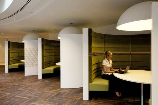Private booths for staff in London law firm