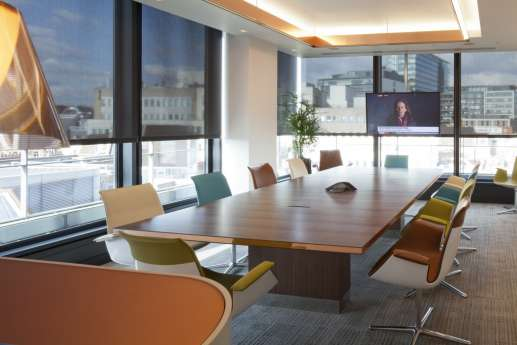 Meeting room in law firm fit out