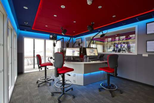 colourful studio design