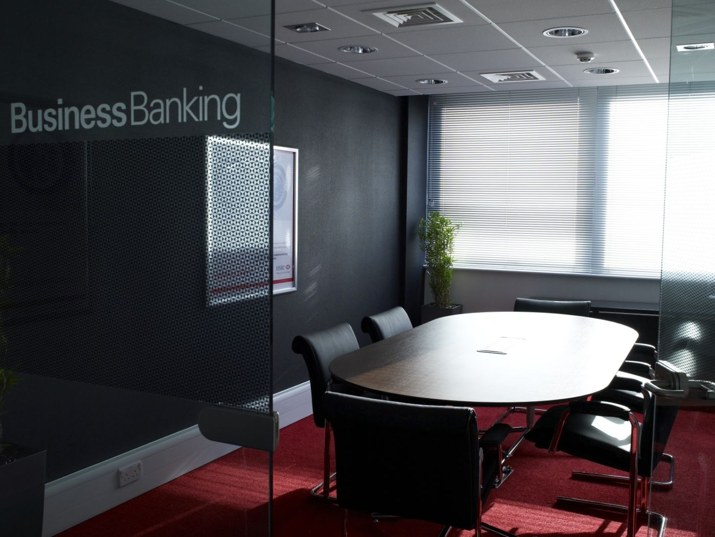Meeting room in retail bank fit out