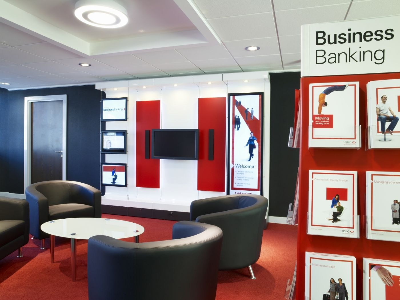 Seating area in HSBC fit out