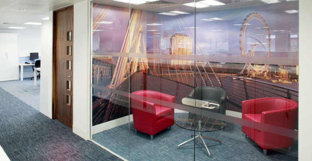 Fit out of sofas in a meeting room
