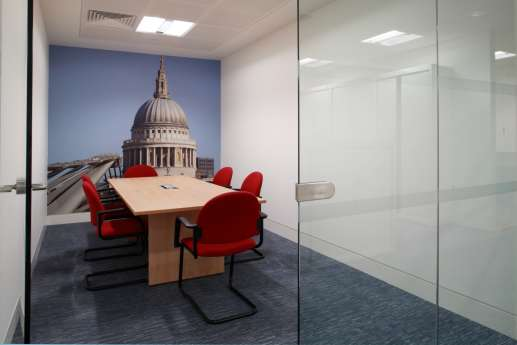 St Pauls wall art in office fit out