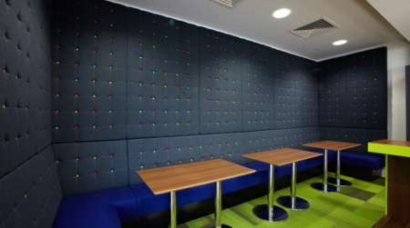 Staff colourful seating design