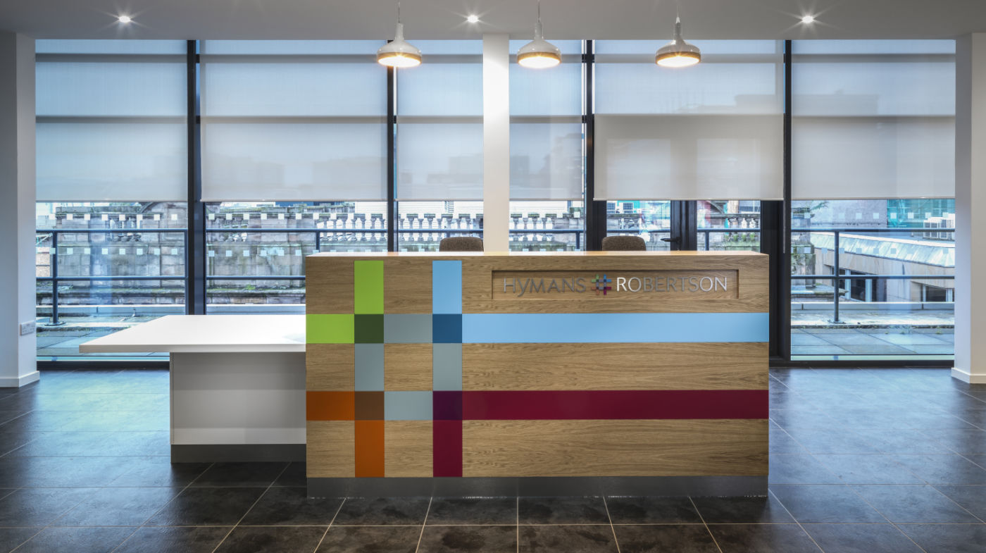 Reception modern fit out