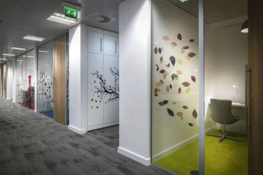 Nature wall art in office fit out