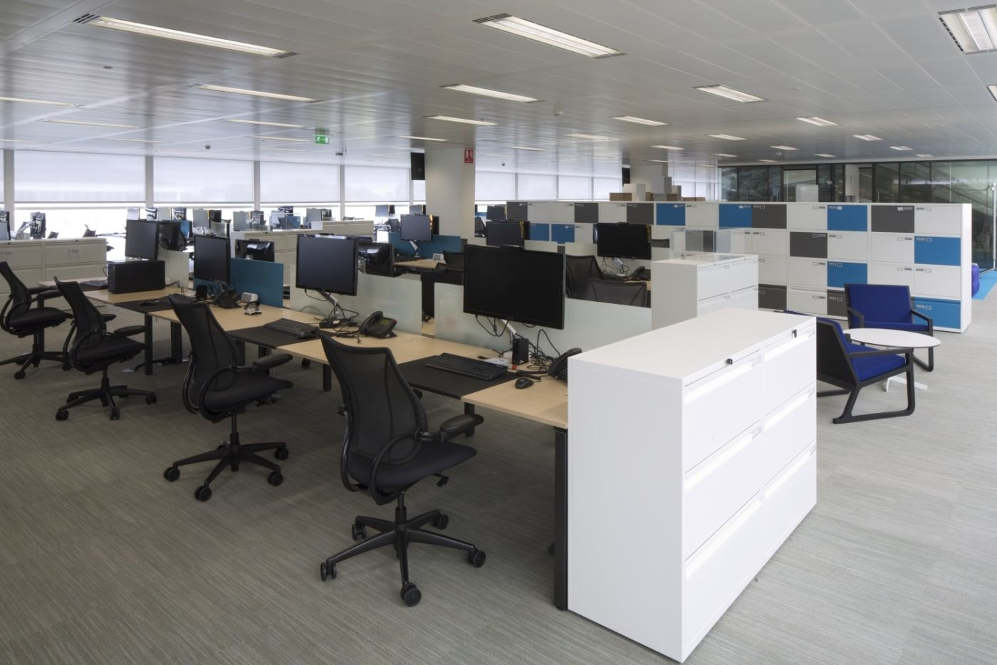 Open fit out of staff desks