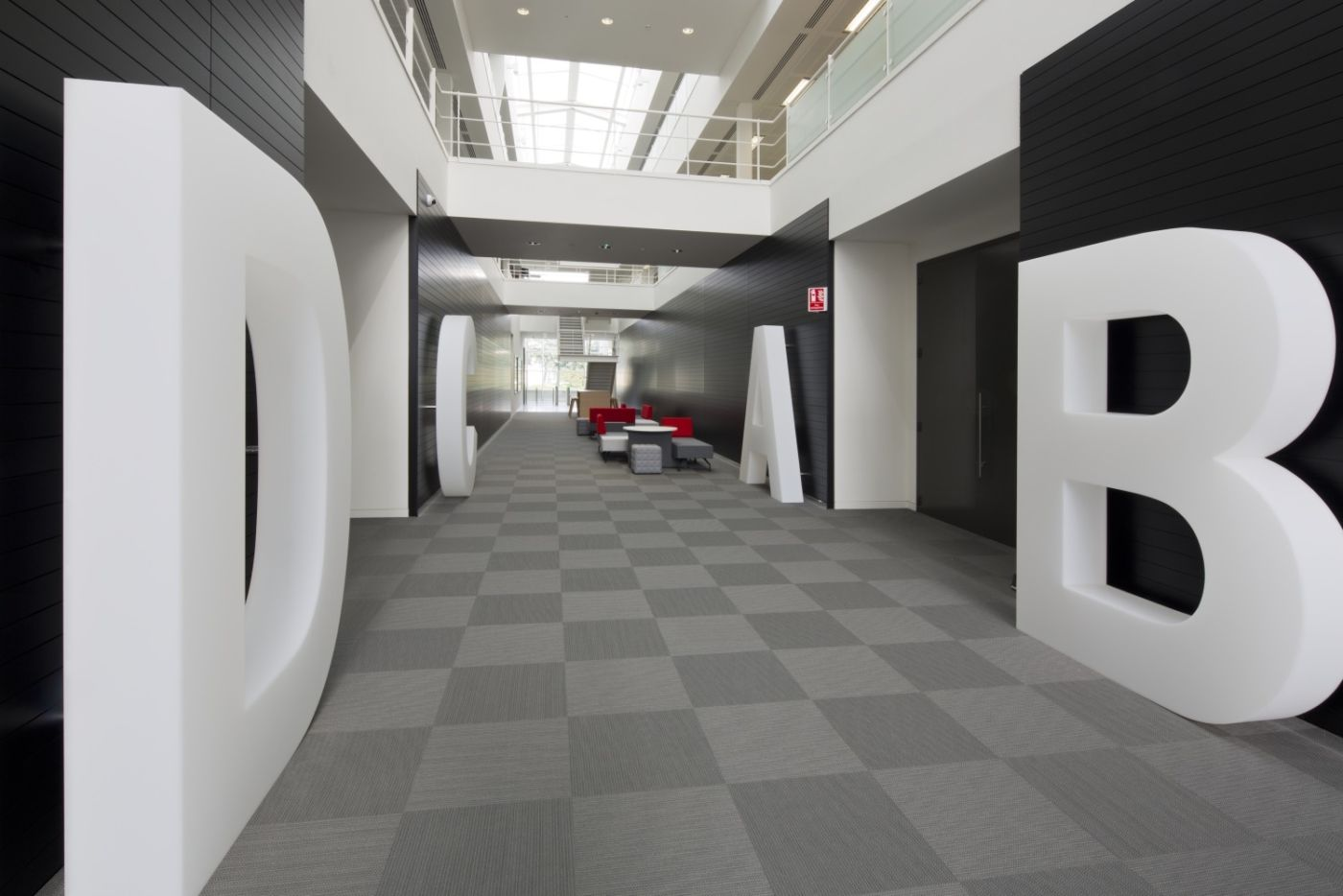 Large letters in office fit out