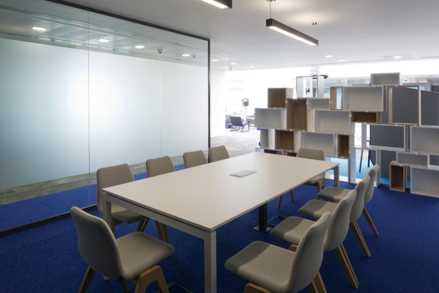Fit out of grey meeting area