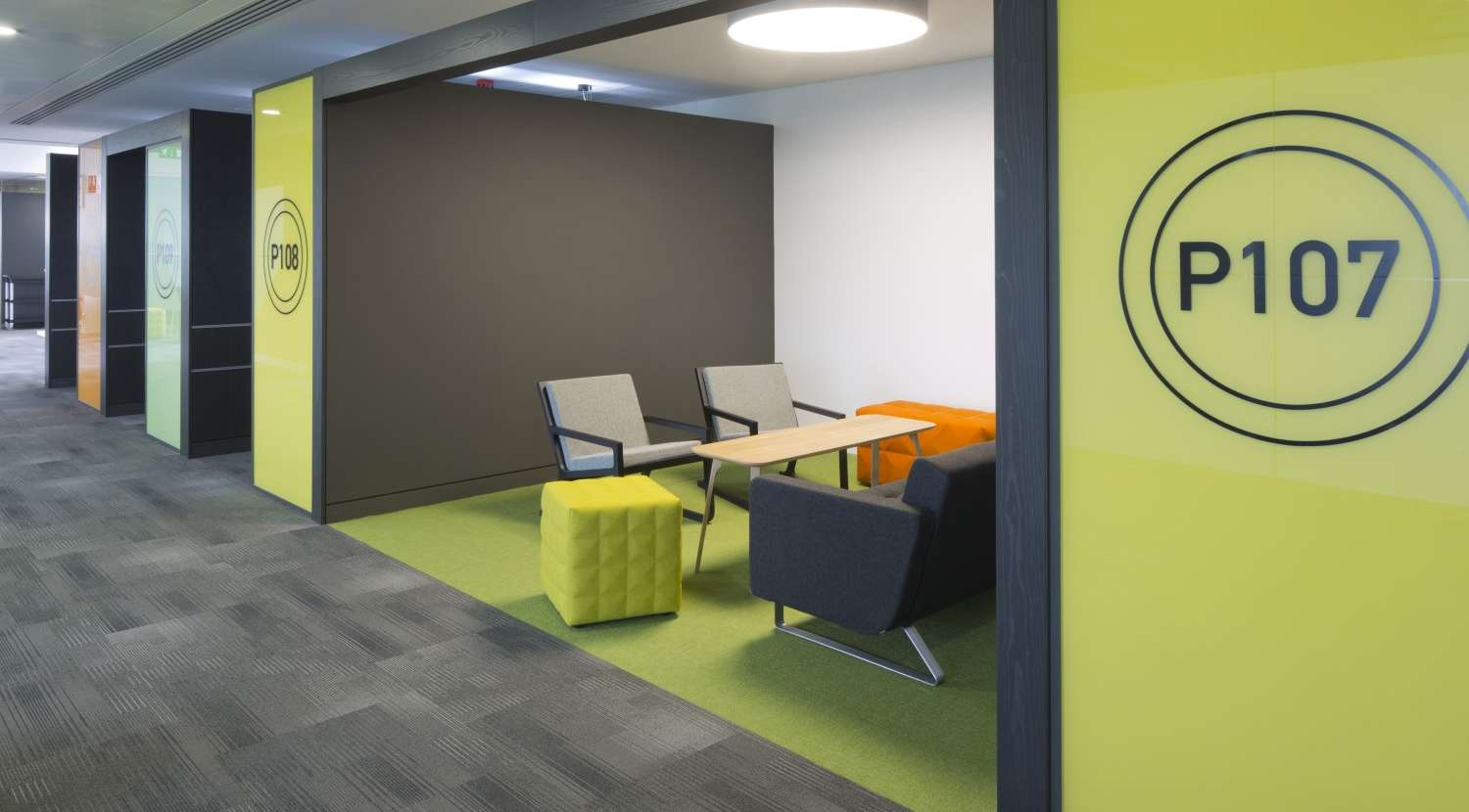 Informal office meeting area