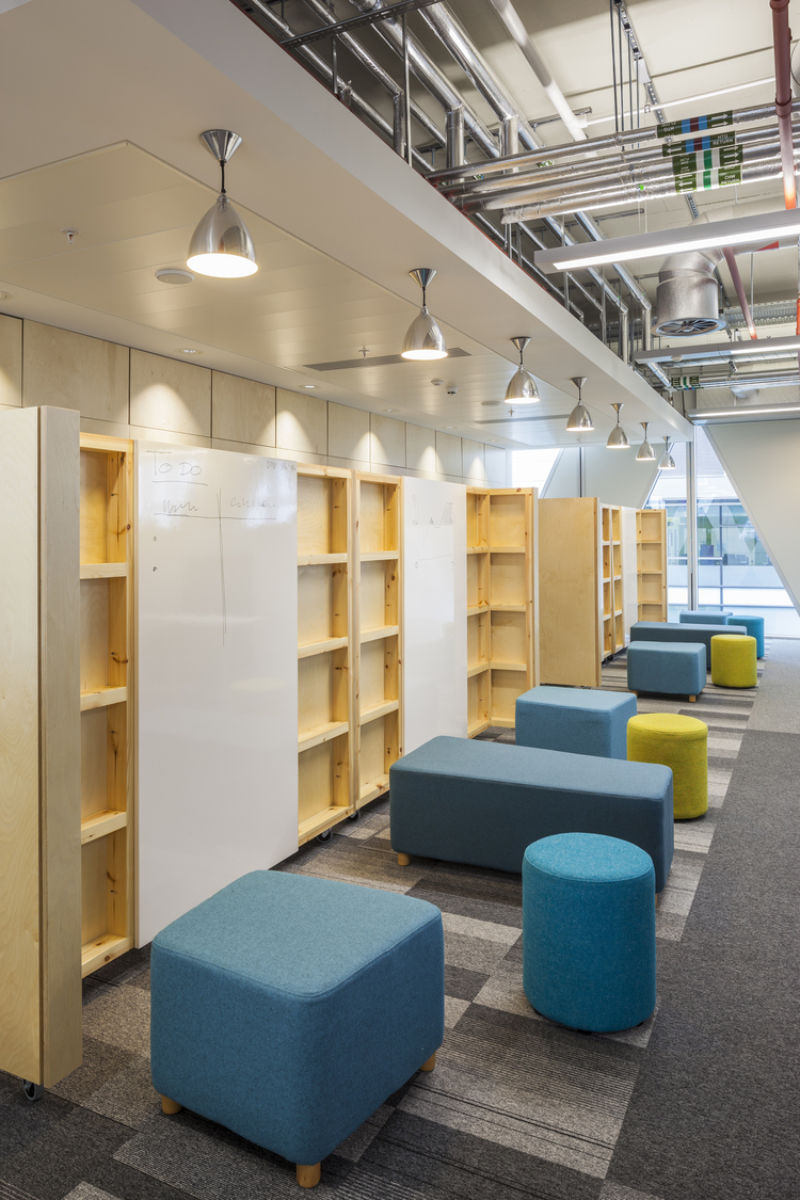Open plan office with informal seating