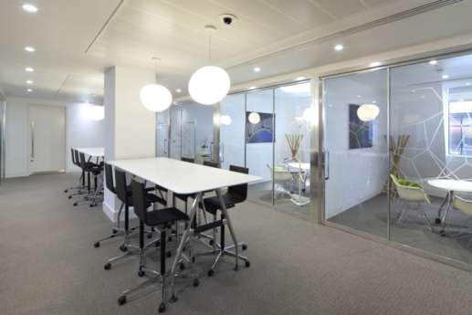 High tables in office fit out