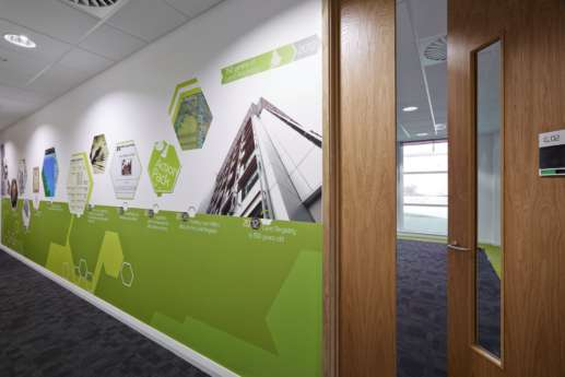 Wall art in Nottingham office fit out