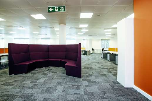 Informal curved seating area