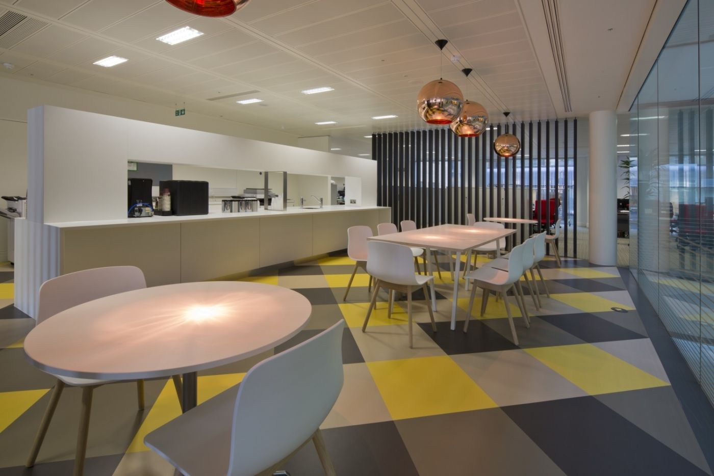 Funky kitchen seating area for staff