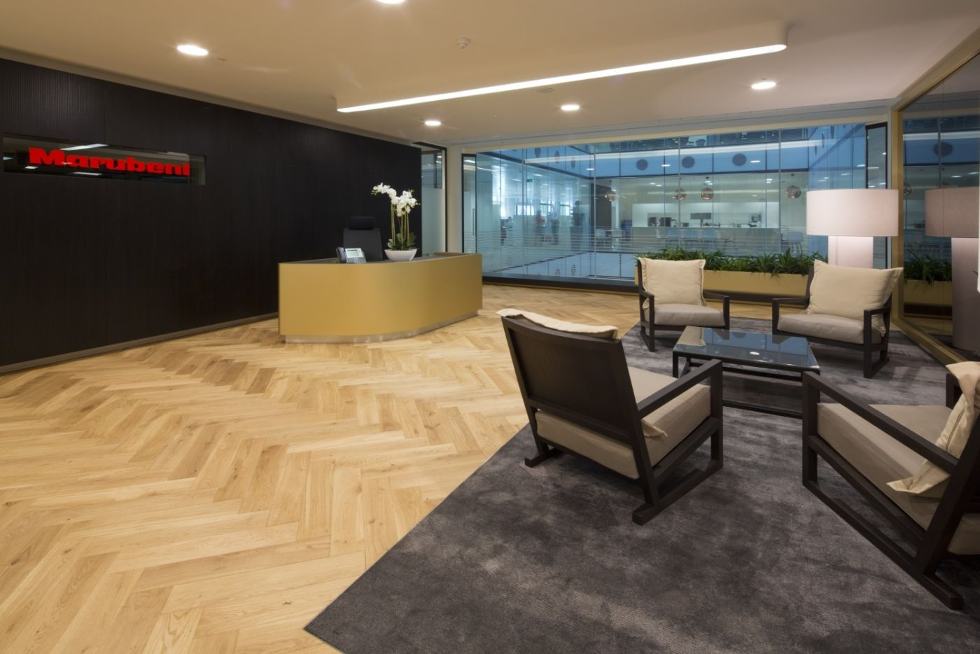 Comfortable chairs in reception area