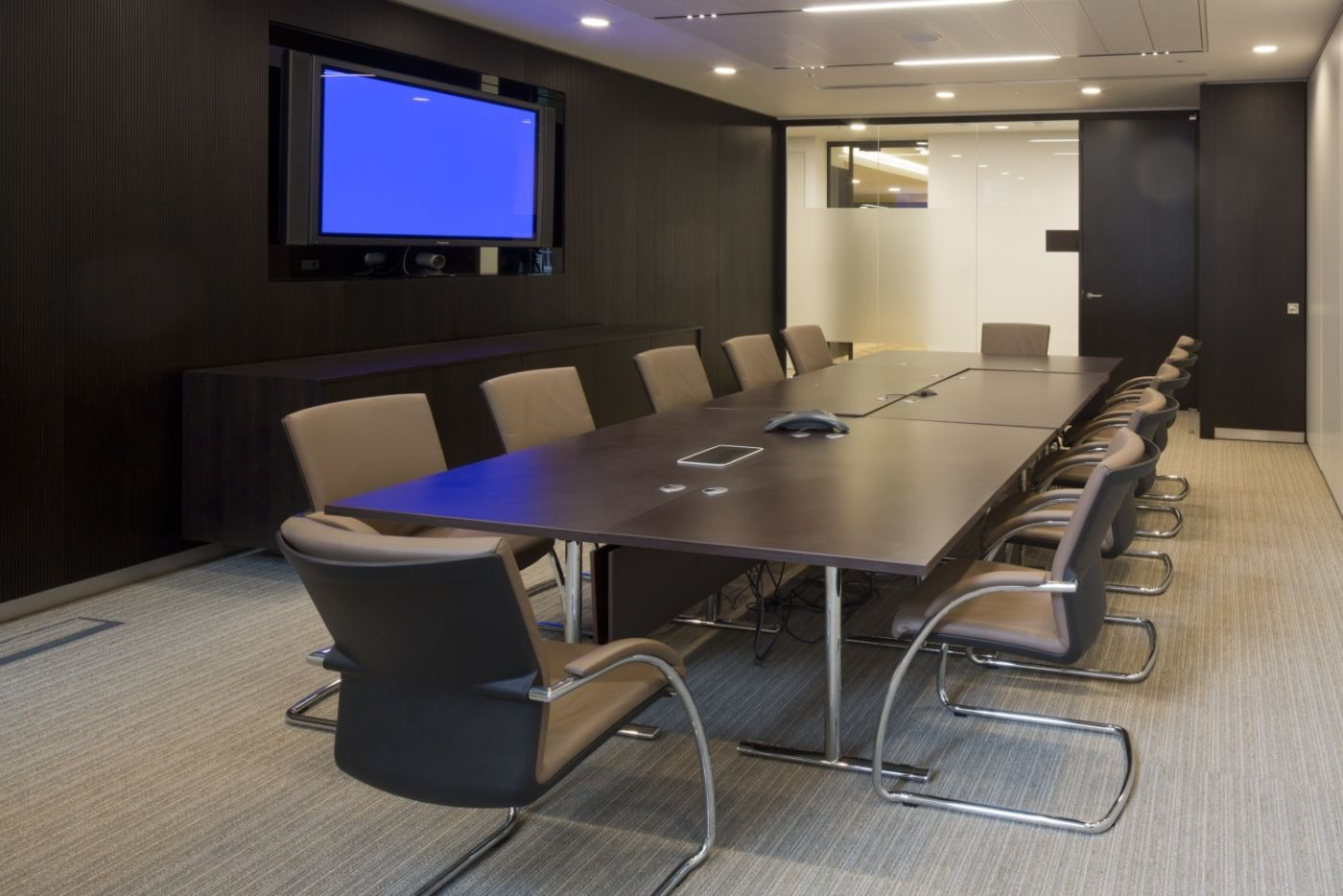 Television in smart meeting room