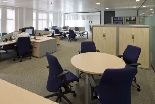 Fit out of modern staff desks