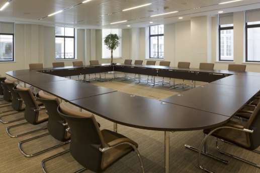 Large circular meeting table
