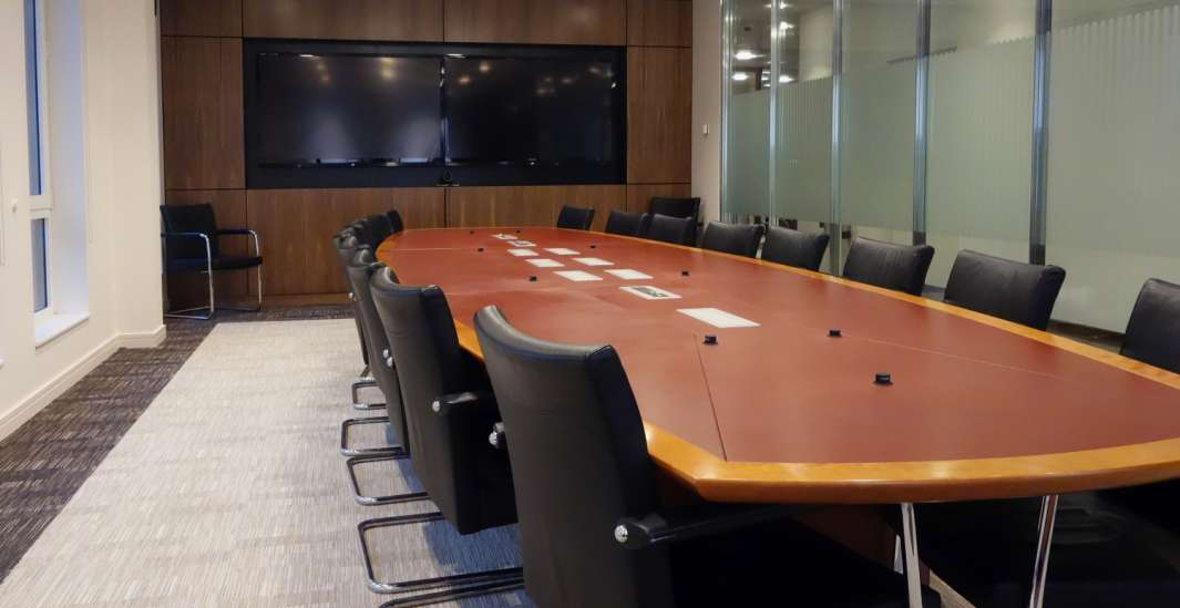 Meeting room in formal office design