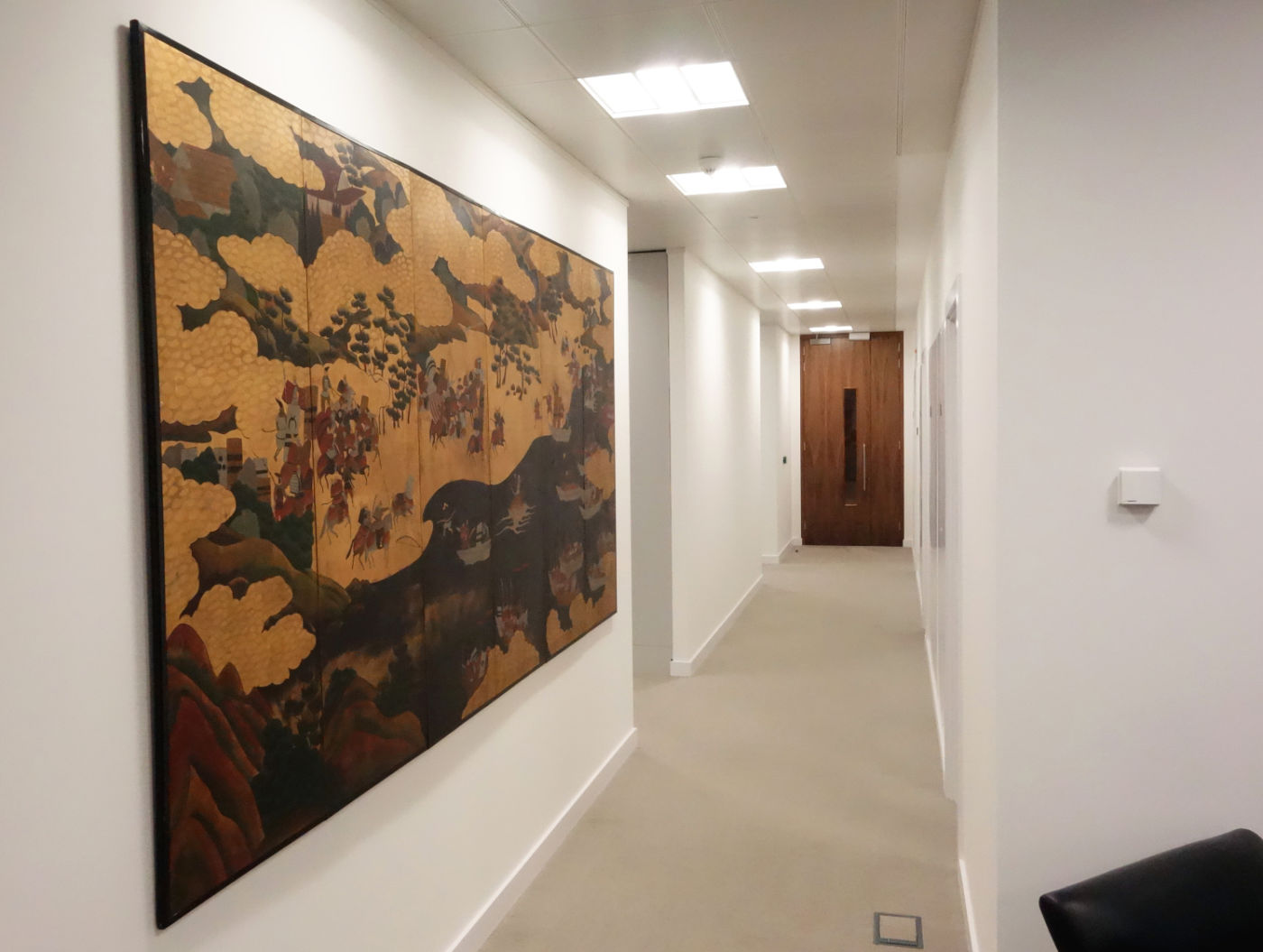 Wall art in hallway fit out