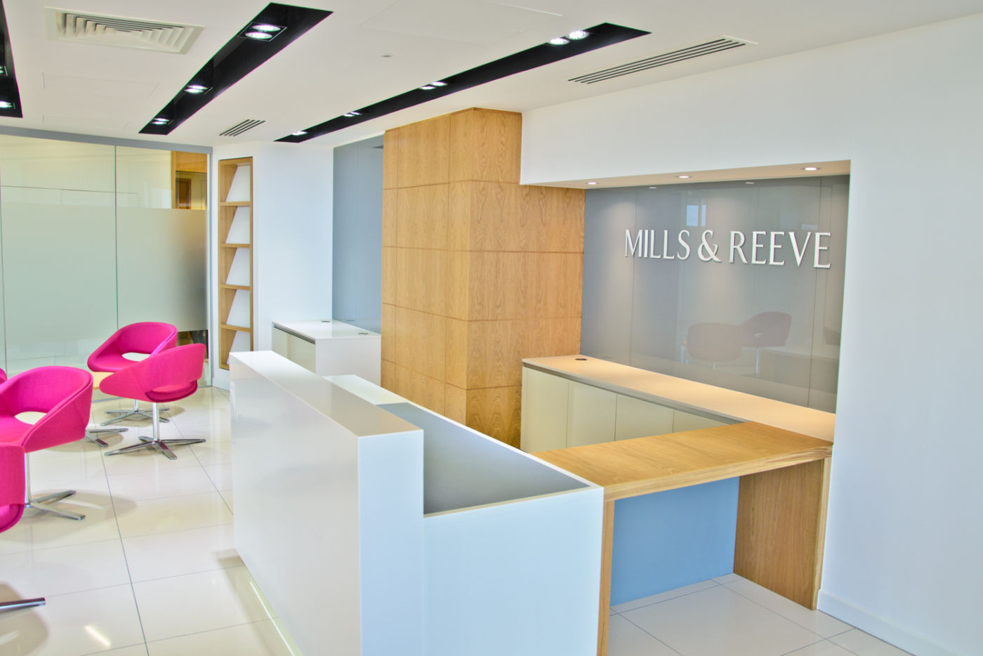 Mills and Reeve office reception in Cambridge
