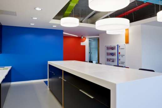High table in modern office fit out