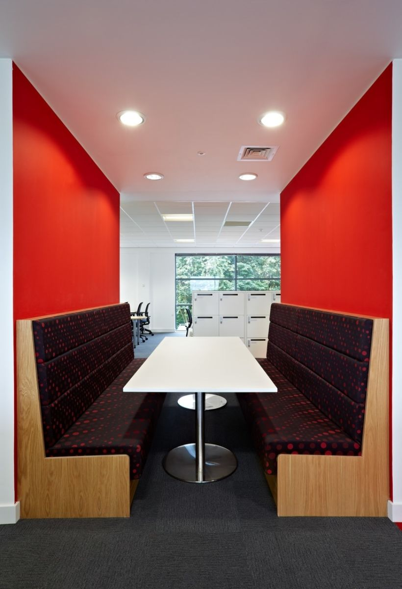 Informal meeting booths in modern fit out
