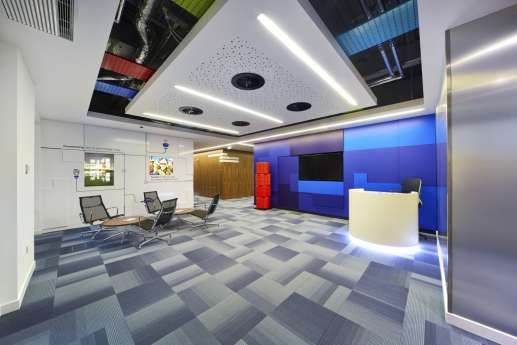 Ultra modern office reception in Warwick