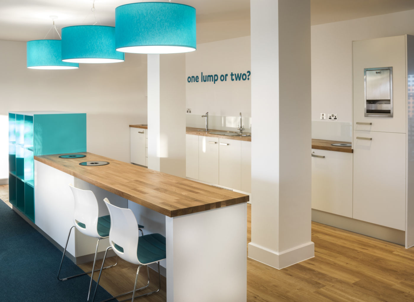 Tea point in modern fit out